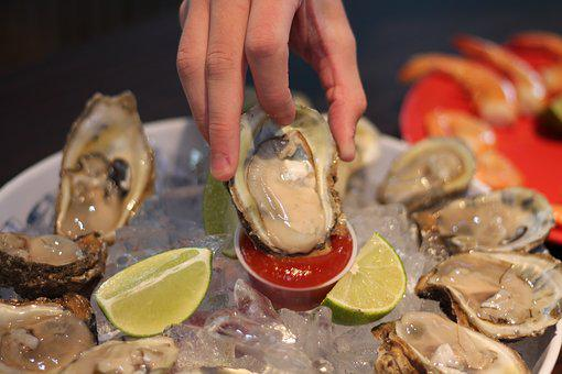 Oyster, Half Shell, Seafood