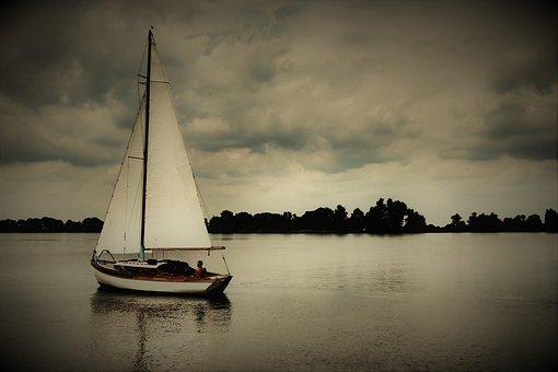 Sail, Sailing Boat, Mast, Friesland, Holland, Ship