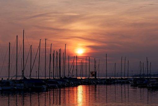 Ouchy, Sunset, Lausanne, Switzerland, Mood, Lake