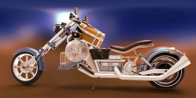 Motorcycle, Two Wheeled Vehicle, Chrome, Silver