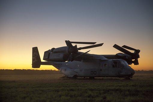 Mv-22b Osprey, Usmc, United States Marine Corps, Folded