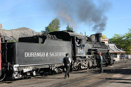 Durango, Locomotive, Usa, Silverton, Colorado