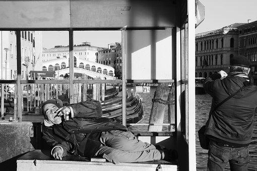 Homeless, Venice, Italy