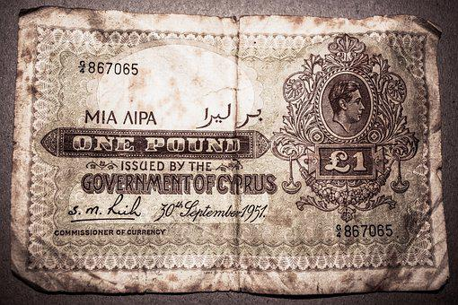 Paper Money, One Pound, Money, Vintage, Old, 1951