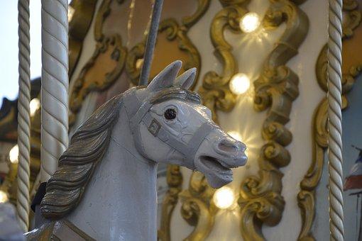 Wooden Horse, Manege, Carousel, Horse, Wood, Animal