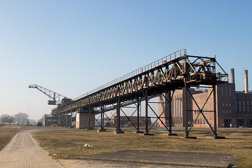 Industry, Conveyor Belt, Usedom, Industrial Heritage
