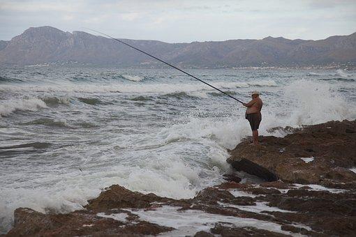 Angler, Fish, Fischer, Water, Fishing, Catch Fish, Sea