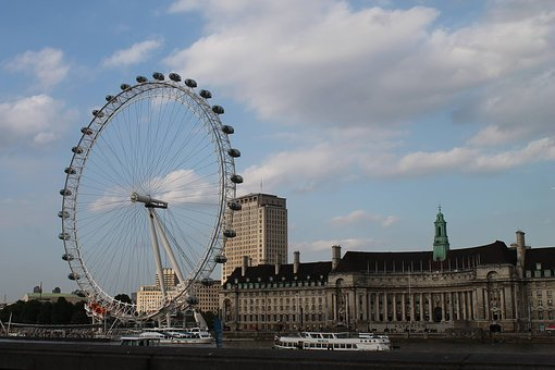 London Eye, England, London, Eye, Landmark, City