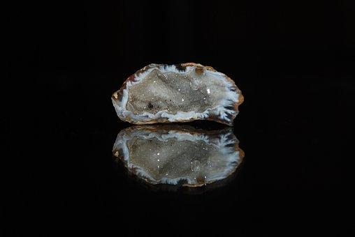 Calcite Geode, Geode, Calcite, Macro, Mineral, Stone