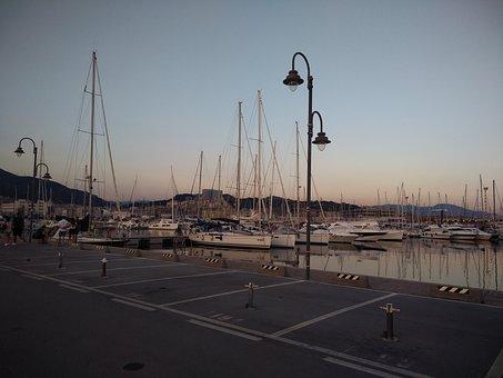 Genoa, Porto, Sea, Marina, Ships, Parking Facilities