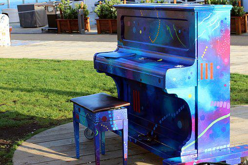 Piano, Colorful, Outdoor, Music, Instrument, Color