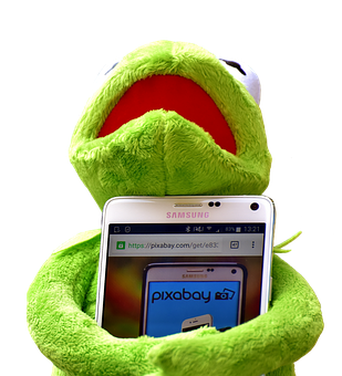 Kermit, Smartphone, Pixabay, Figure, Stuffed Animal