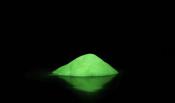 Fosforescencia, Powder, Light, Green, Glow-in-the-dark