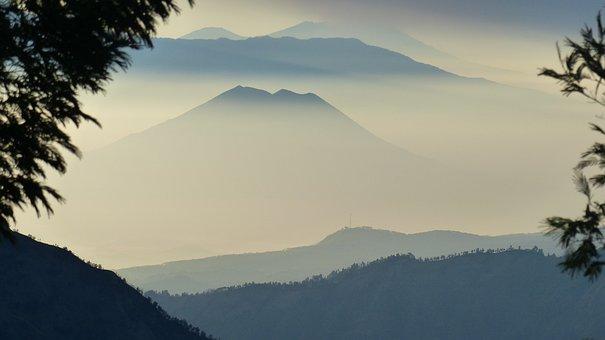 Indonesia, Volcano, Rash, Java, Landscape
