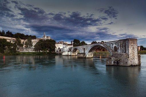 Avignon, Bridge, Rhône