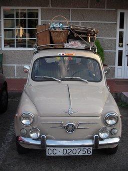 Seat, Car, Classic, Seat 600, Seventies, Retro, Vehicle