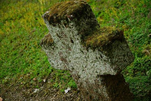 Stone Cross, Cross, Cemetery, Tomb, Old Cemetery
