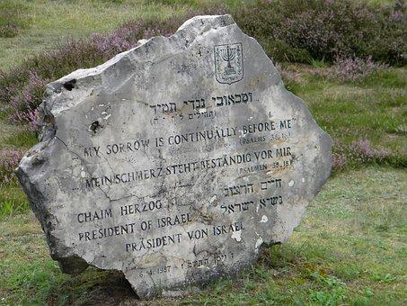 Stone, Jewish, Bergen-belsen, Memorial, Germany