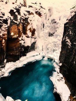 Canada, Winter, Snow, Ice, Frozen, Waterfall, Falls