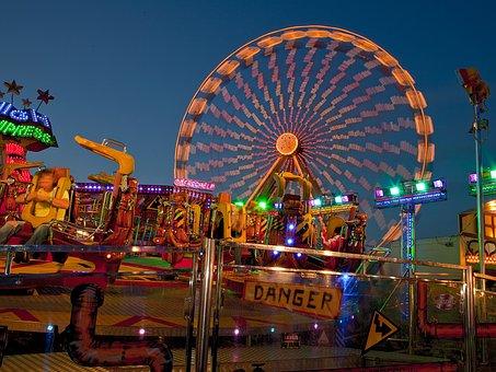 Ferris Wheel, Fair, Folk Festival, Night, Year Market