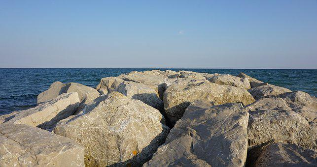 Rock, Sky, Blue, Sea, Landscape, Sand Stone, Holiday