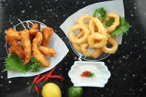 Calamari, Fried Chicken Fingers, Snacks, Deep Fried