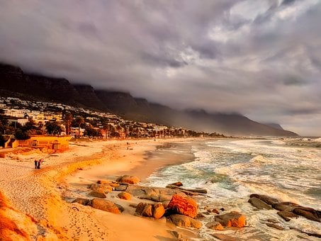 Cape Town, South Africa, City, Beach, Sand, Vacation