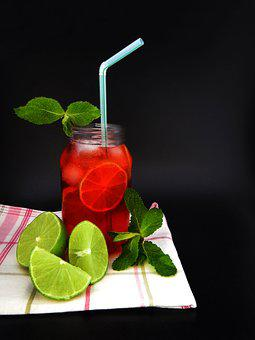 Fruit Punch, Drink, Mojito, Cherry