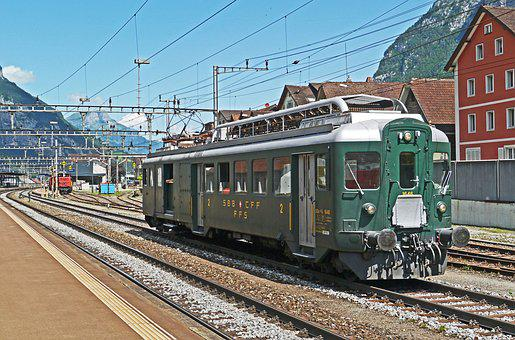 Sbb Historic, Baggage Railcar, Erstfeld