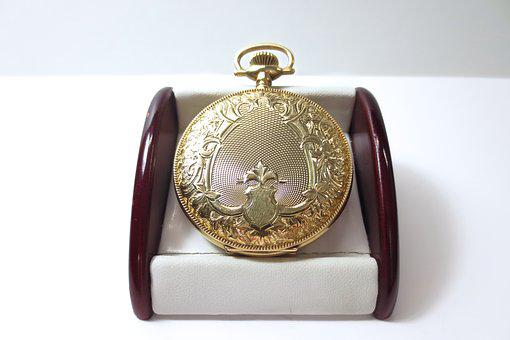 Pocket, Watch, Antique, Fine, Gold, Golden, Time, Clock