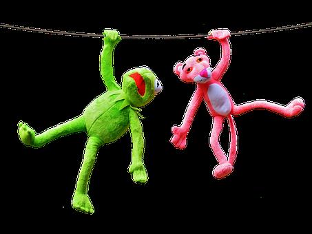 Kermit, Pink Panther, Plush Toys, Fun, Plush
