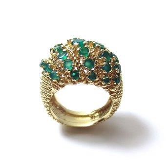 Emerald, Emeralds, Green, Gold, Scalloped, Texture