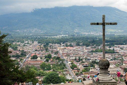 Cross, Praise, Christian, Guatemala, Antigua
