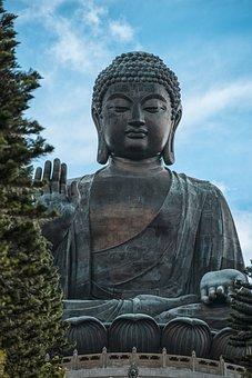 China, Hong Kong, Buddha, Asia, Historically, Sculpture