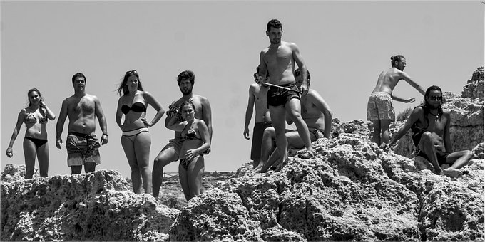 Beach Scene, Young People, Teenage, People, Leisure