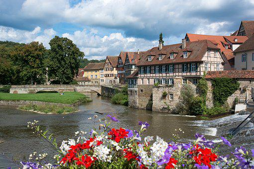 Schwäbisch Hall, Cities, Truss, Old Town, Middle Ages