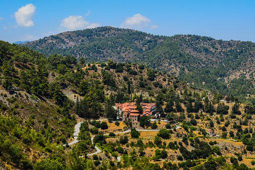 Mountains, Monastery, Landscape, Forest, Nature, Summer