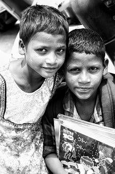 Poverty, Monochrome, India, Person, Sadness, Behavior