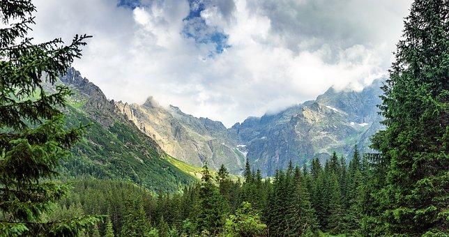 Mountains, Morskie Oko, Nature, Landscape, Sky, Green