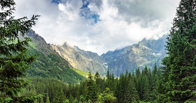 Mountains, Morskie Oko, Nature, Landscape, Tatra, Sky