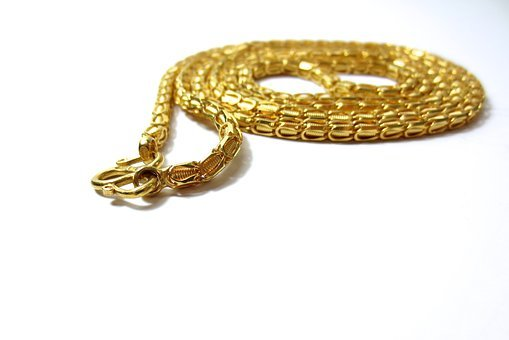 Gold, Golden, Chain, Necklace, Jewelry, Yellow, Pattern