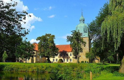 Schloss Fürstenau, Lower Saxony, Landscape, Osnabrück