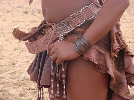 Woman, Himba, Namibia, People, Garment, Adornment, Clay