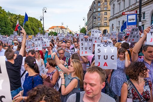 Poland, Demonstration, Protest, Constitution, Politics