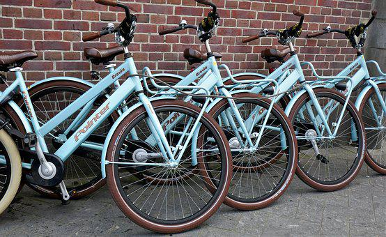 Bicycles, Rental Bikes, Bike, Wheel, Handlebars
