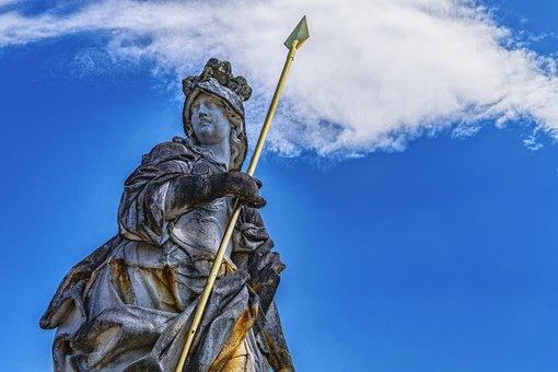 Statue Of Minerva, Giuseppe Volpini, Schleißheim