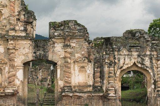 Ruins, Guatemala, Antigua, Old, Stone, Buildings