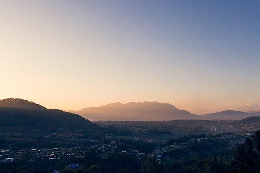 Sunset, Nepal, Kathmandu, Landscape, Travel, Himalaya