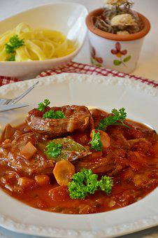 Osso Buco, Meat, Calf, Veal, Beef, Leg Slices, Court