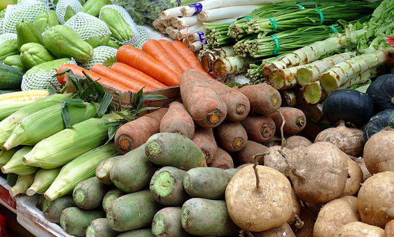 Market, Vegetables, Fruit, Healthy, Food, Mediterranean